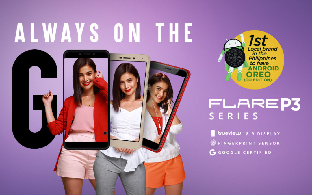 Be Always-On-The-Go with the newest Cherry Mobile Flare P3 Series!  Fun, Light, and Trendy